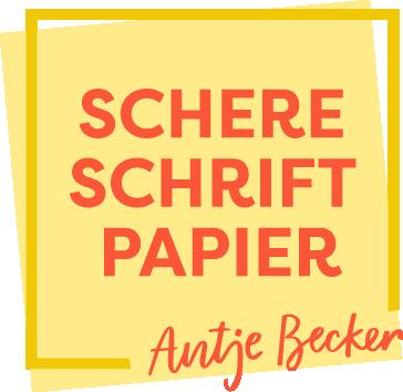 Schere Schrift Papier