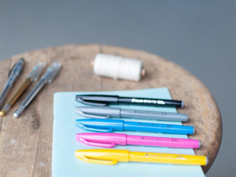 Stifte Handlettering Workshop Schere Schrift Papier
